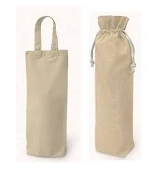 Canvas Drawstring Wine Bottle Packing Bag