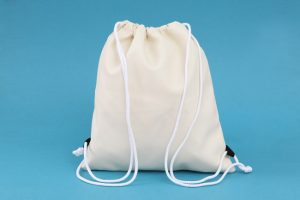Cotton drawstring bag for girl