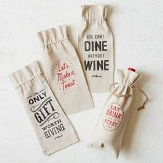 Wholesale canvas wine bag