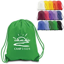 Custom Printed Cotton Drawstring Bags