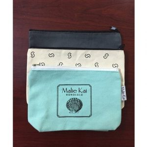 CANVAS COSMETIC BAG WITH LOGO PRINTING