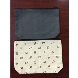 CANVAS COSMETIC BAG WITH LOGO PRINTING 2