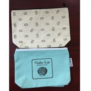 CANVAS COSMETIC BAG WITH LOGO PRINTING 3